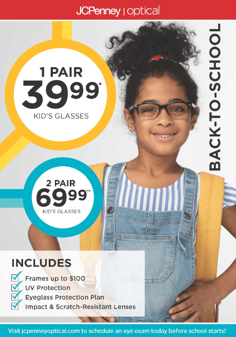 Back-to-School Optical Promotion from JCPenney