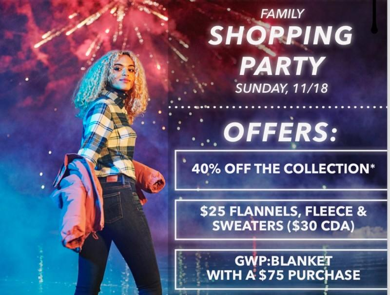 Family Shopping Party from American Eagle Outfitters