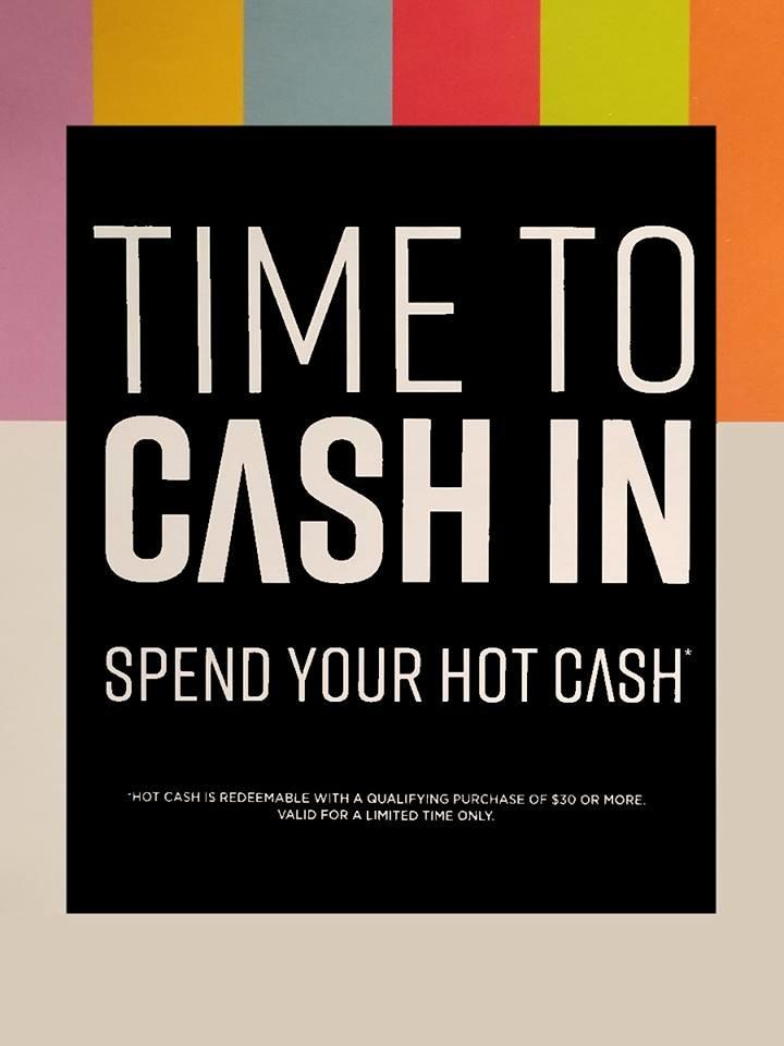 Hot Cash redemption time! from Hot Topic