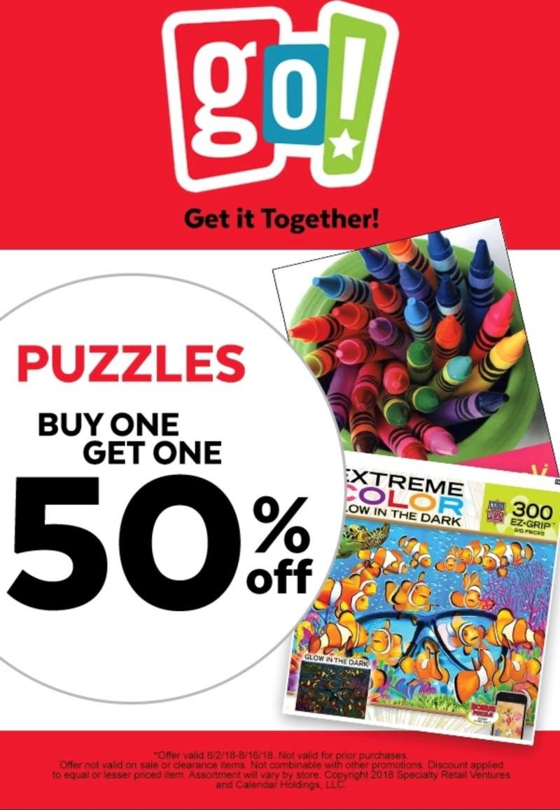 Puzzles on Sale! from Go! Calendars Toys Games
