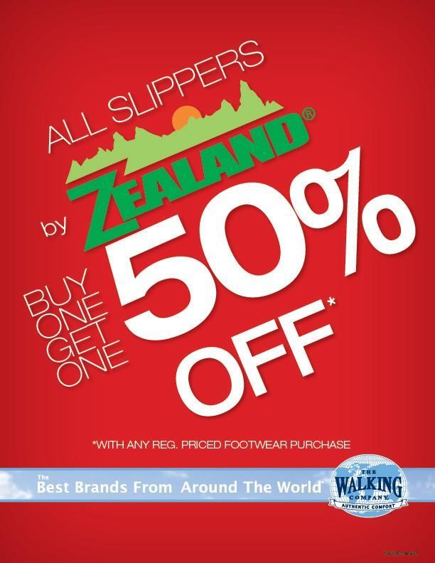 Zealand Sandals & Slippers Bogo 50% off