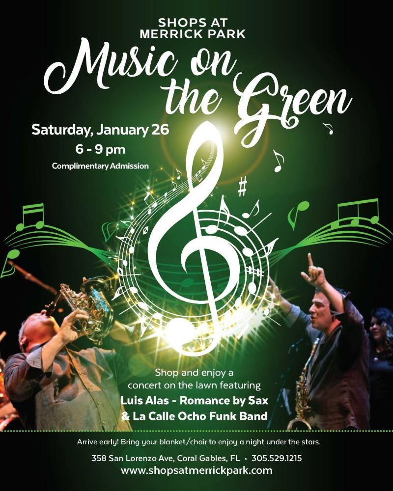Music on the Green- Luis Alas-Romance & La Calle Ocho Funk Band