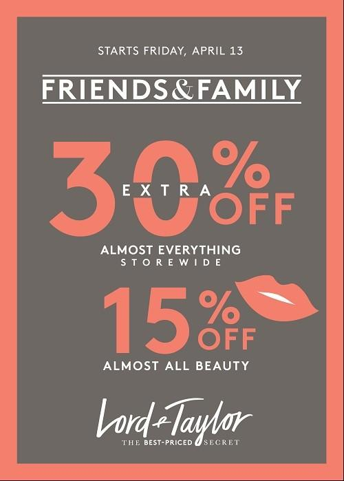 Save an extra 30% Off from Lord & Taylor