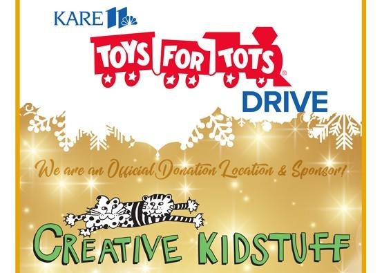 Creative Kidstuff is proud to partner with KARE 11 and Kowalski's to support Toys for Tots. from Creative Kidstuff
