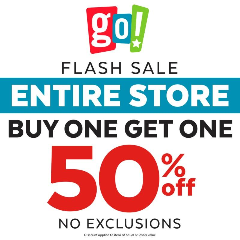 BOGO 50% OFF THE ENTIRE STORE!