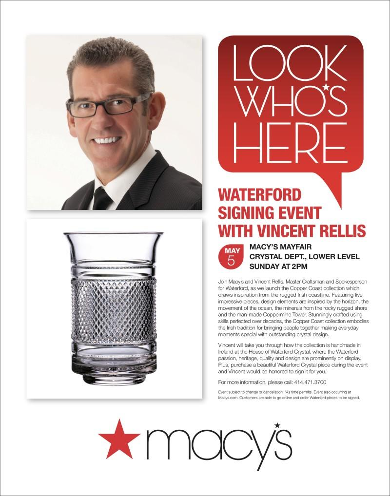 Waterford Event from macy's