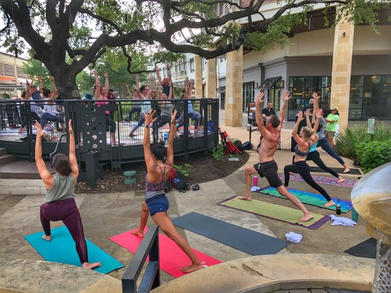 people doing yoga at la cantera