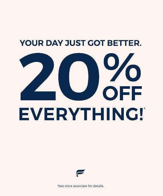 20% off EVERYTHING from Fabletics