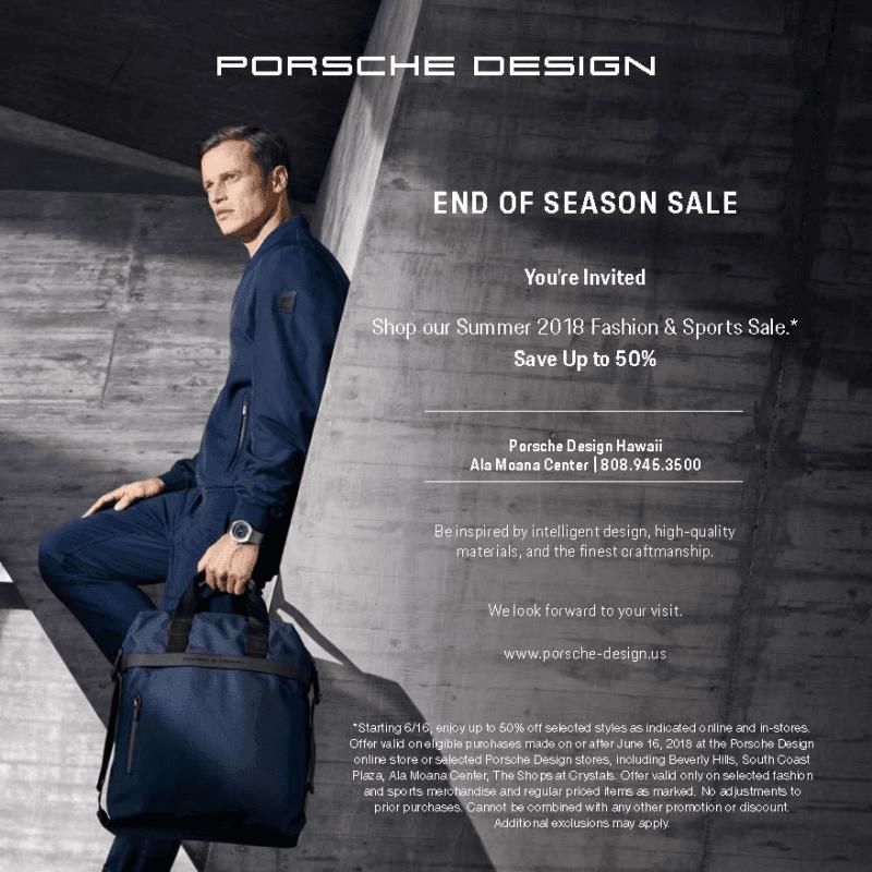End of Season Sale from Porsche Design