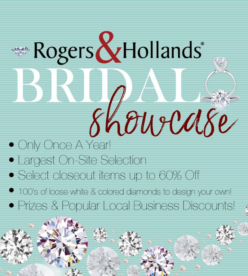 bridal showcase event at rogers & holland
