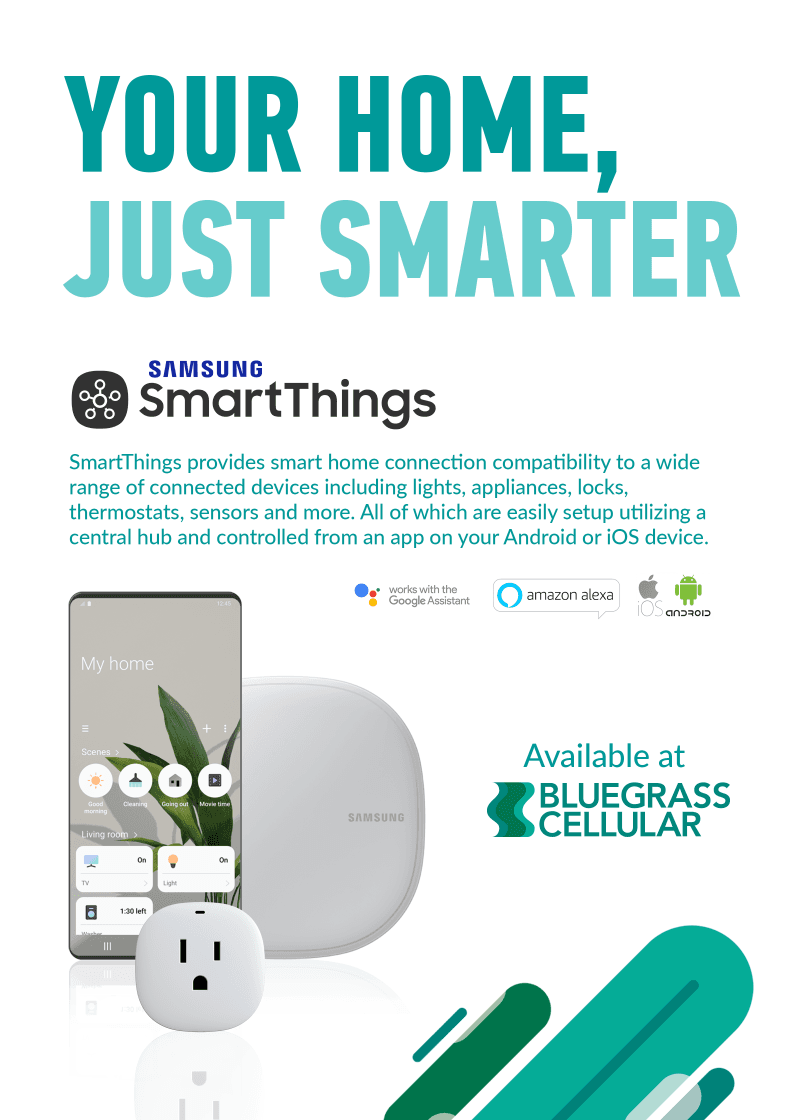 Your Home, Just Smarter – With Samsung SmartThings from Bluegrass Cellular