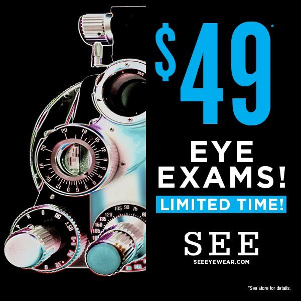 $49 Eye Exams! from See Eyewear