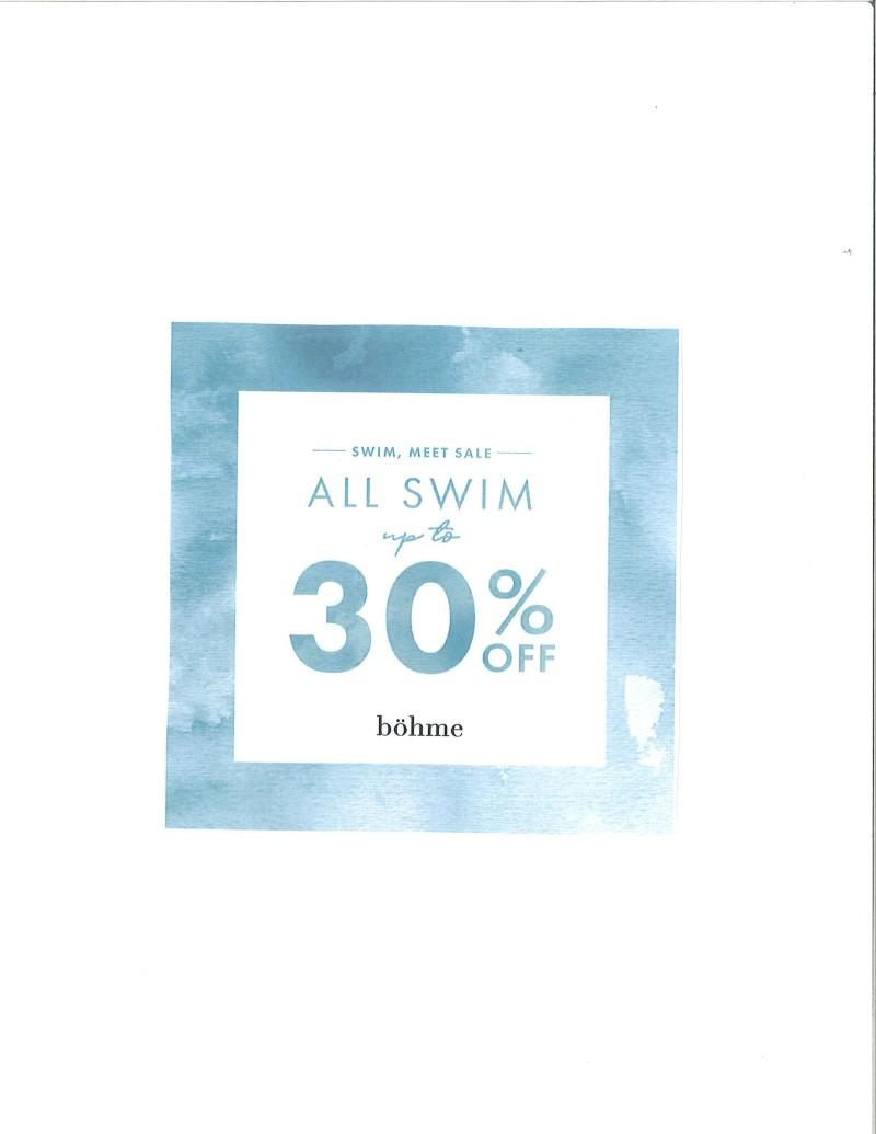 30% off Swimwear from Bohme Boutique