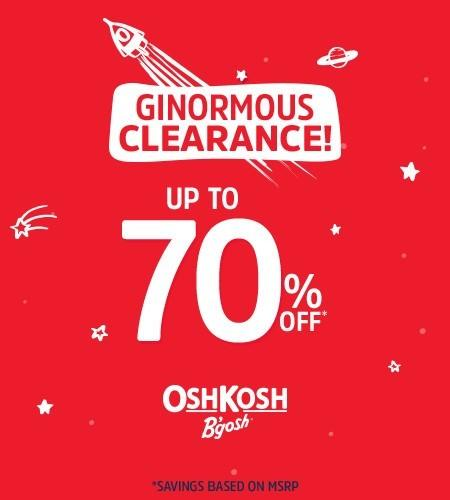 OshKosh Ginormous Clearance from Carter's Oshkosh
