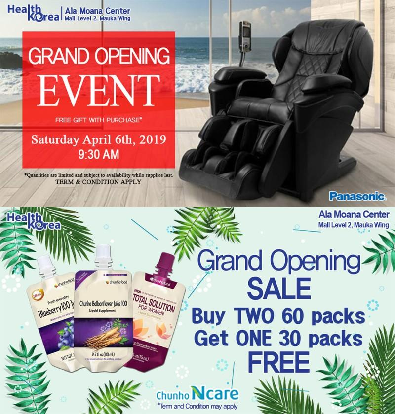 Grand Opening Specials from Health Korea