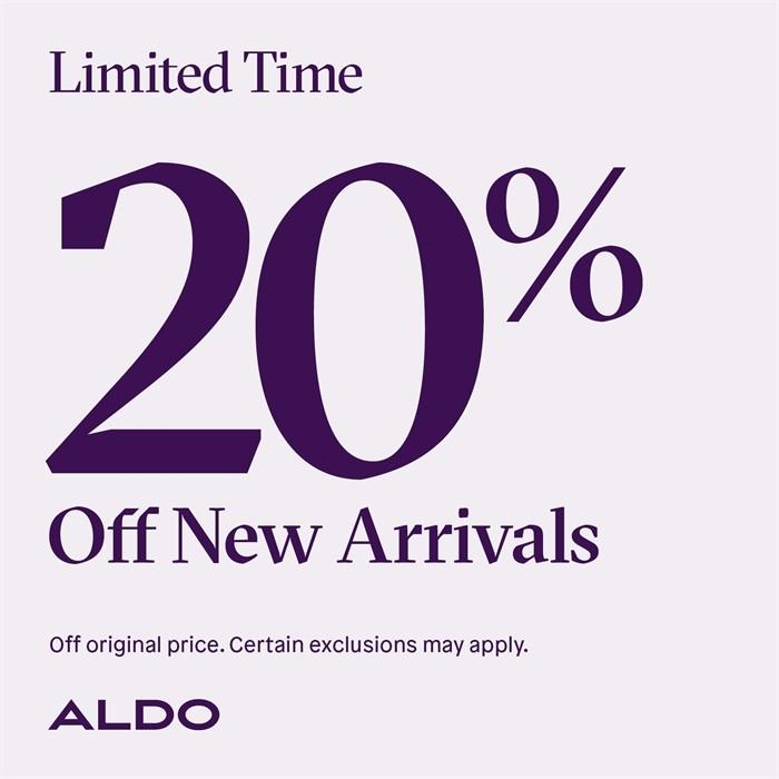 Black Friday - 20% off New Arrivals from ALDO Shoes