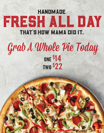 Grab a Whole Pie today