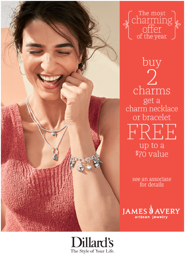 James Avery Charm Promotion from Dillard's