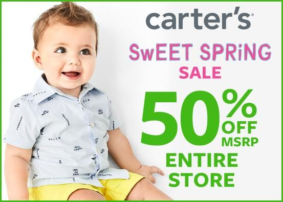 50% off Entire Store from Carter's Oshkosh