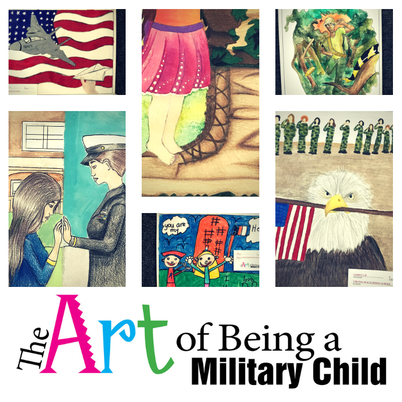The Art of Being A Military Child Student Art Exhibit