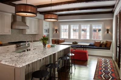picture of kitchen and dining room space