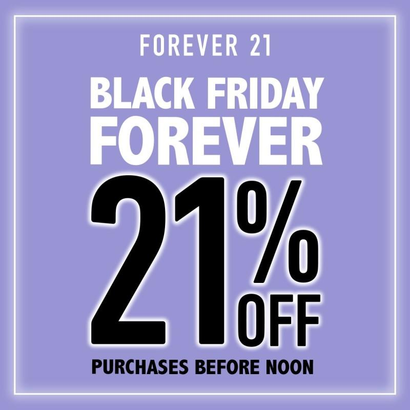 21% Off Before Noon!