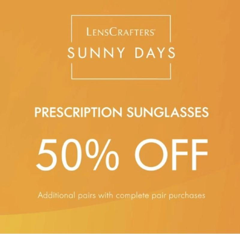 50% off Prescription Sunglasses