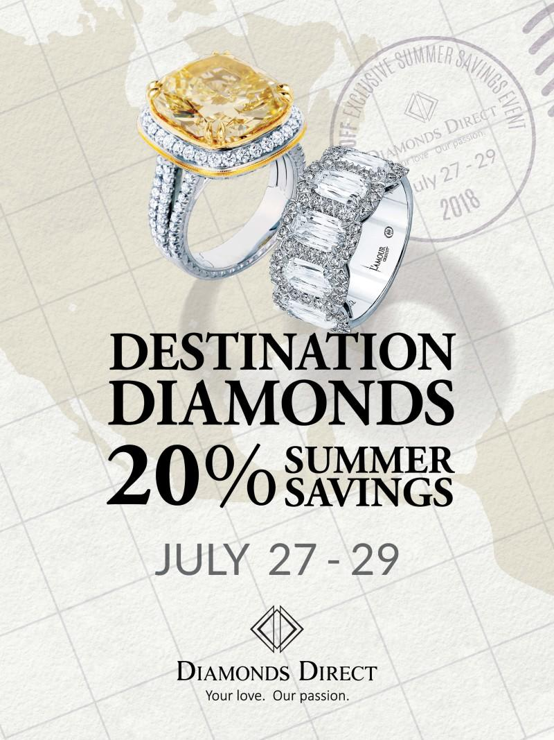 Save 20% on the most gorgeous finds from Diamonds Direct