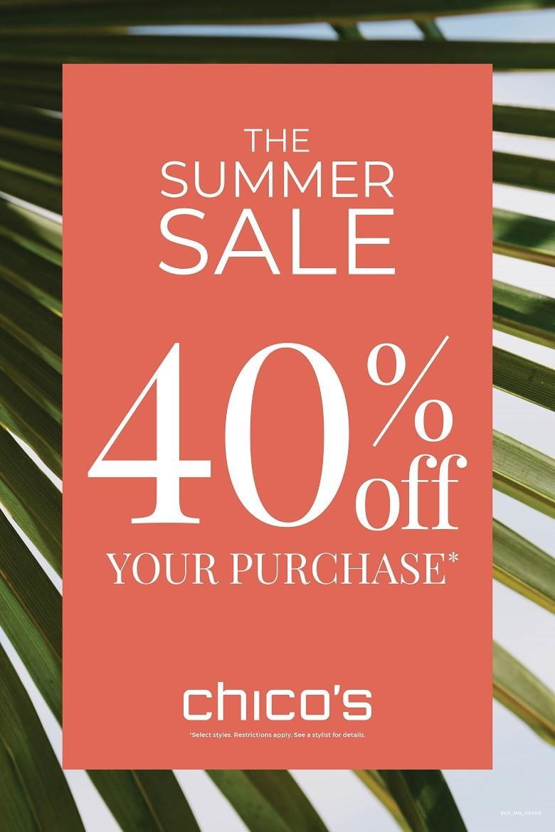 The Summer Sale 40% Off from chico's