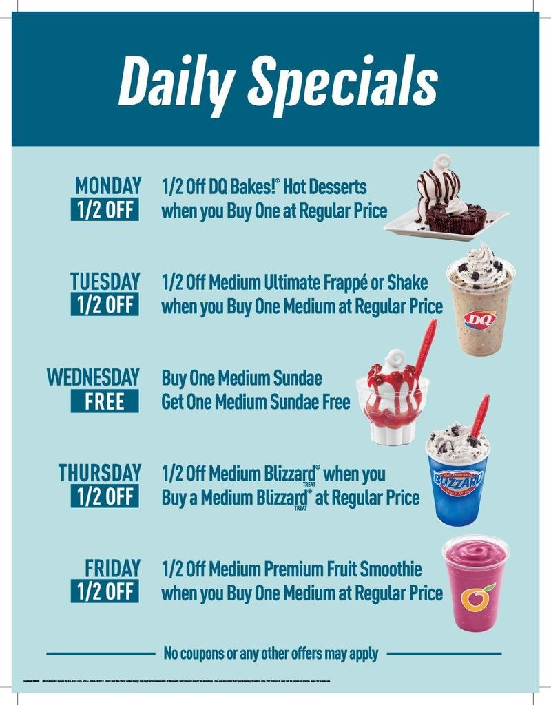 Dairy Queen Daily Specials from Dairy Queen