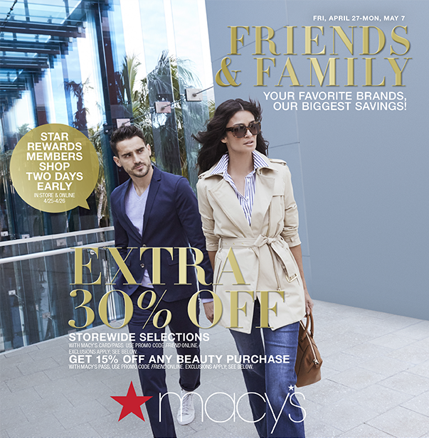 Friends & Family from macy's