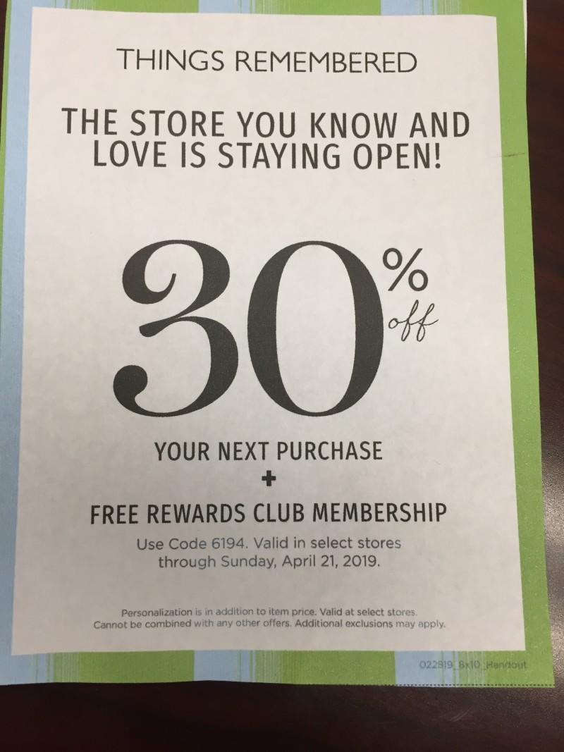 30% Off + Free Rewards Membership