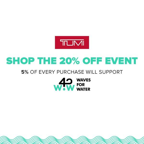 Save 20% Off Event from TUMI
