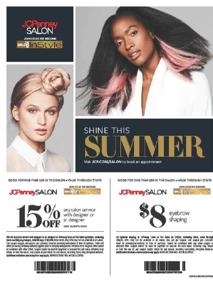 Shine This Summer at The Salon By InStyle from JCPenney