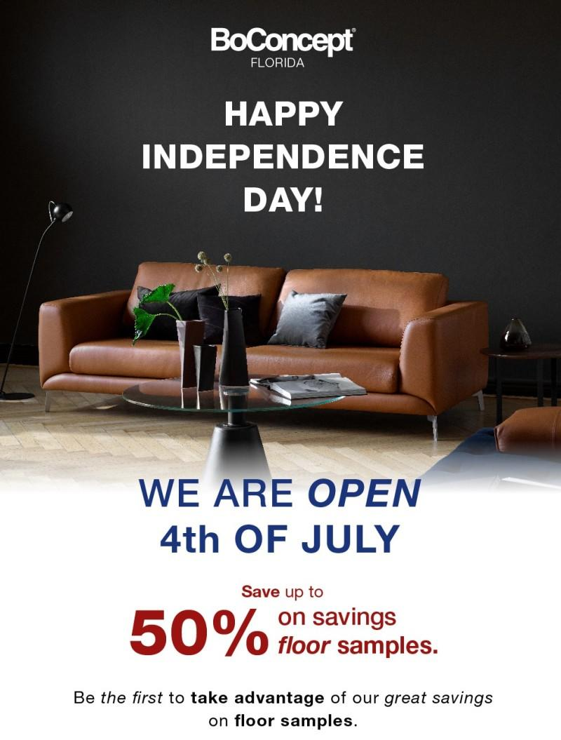 Happy Independence Day from BoConcept
