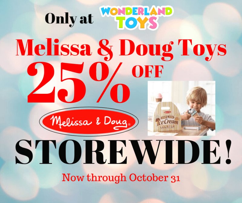 25% off Melissa & Doug Toys from Wonderland Toys