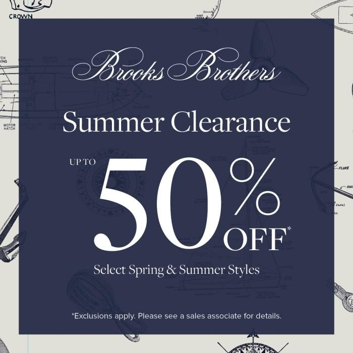 Summer Clearance from Brooks Brothers