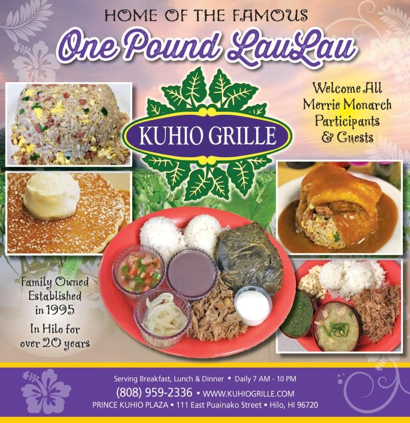 Kuhio Grille wants to welcome ALL Merrie Monarch participants and guests!!