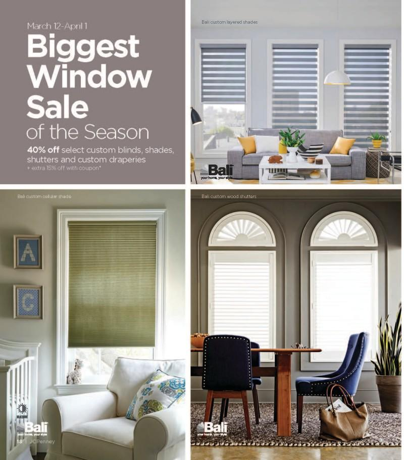 Biggest Window Sale of the Season from JCPenney