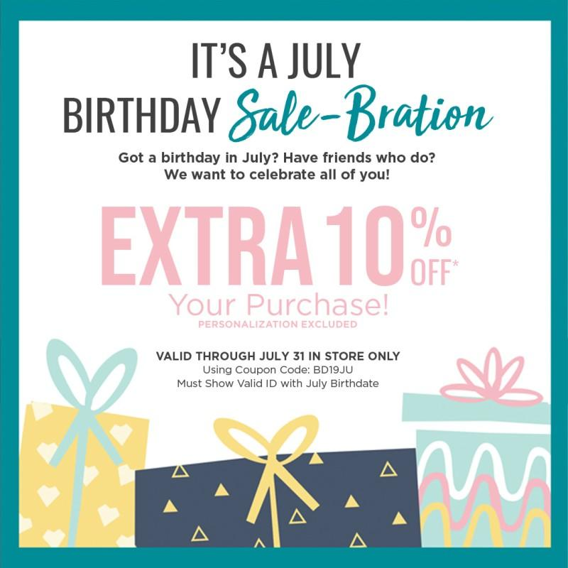 July Birthday Sale-Bration from Things Remembered