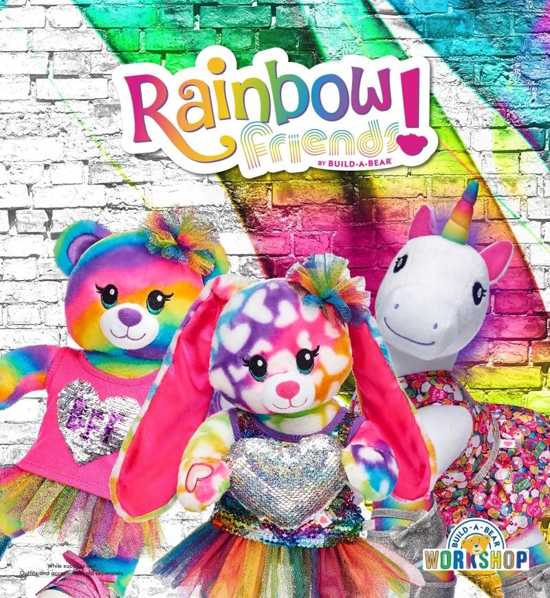 Rainbow Friends Bunny from Build-A-Bear Workshop
