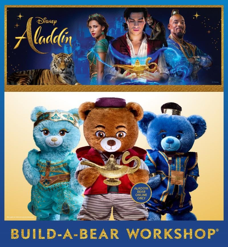 Journey Beyond the Palace Gates with the Disney Aladdin Collection from Build-A-Bear Workshop