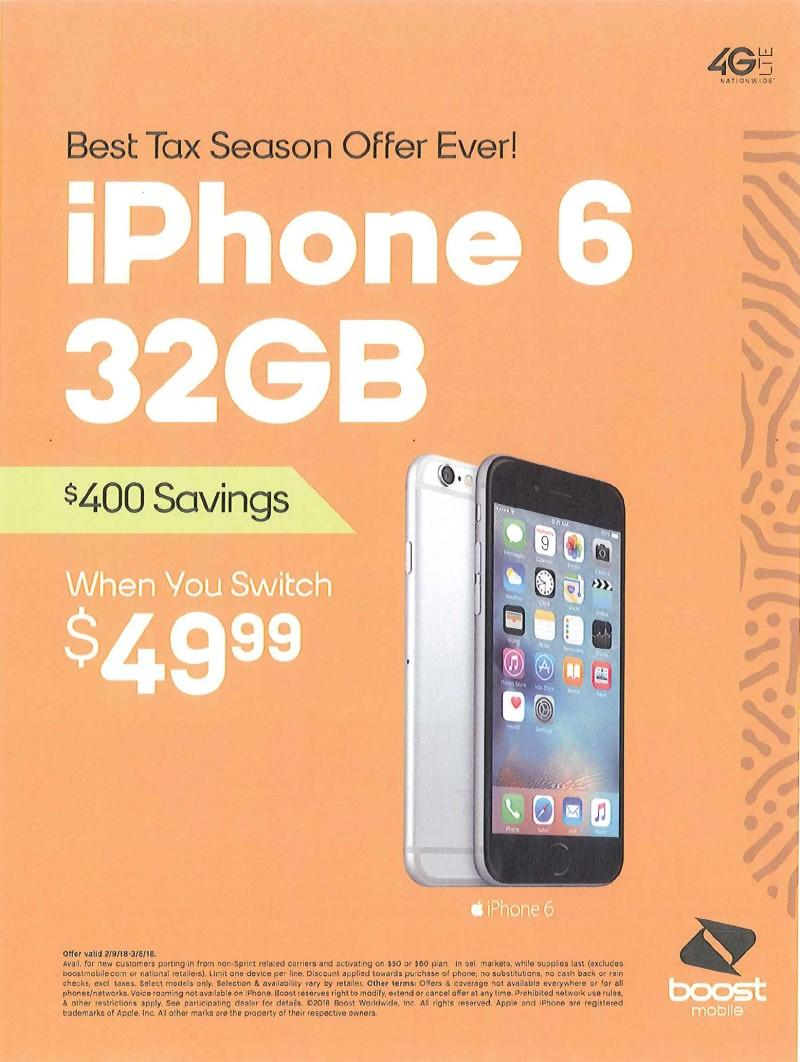 Best Tax Season Offer Ever! from Boost Mobile