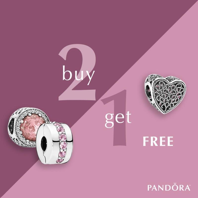 Buy Two Charms and Get One Free from PANDORA