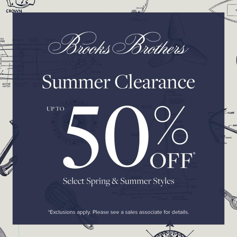 Brooks Brothers Summer Clearance