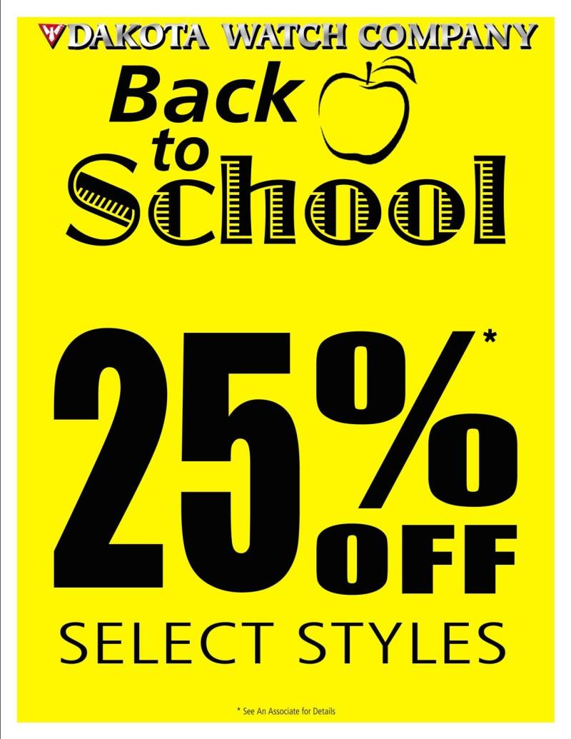 Back to School Sale from Dakota Watch Company
