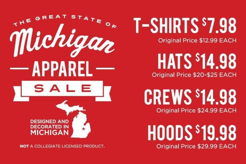 Michigan Apparel Sale from Campus Den