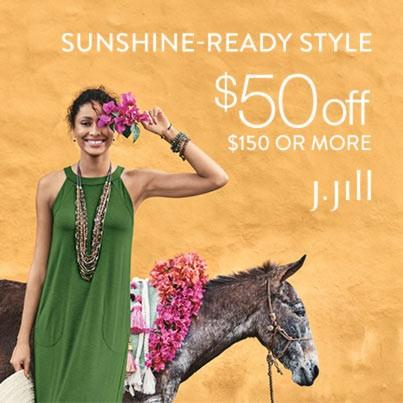 May Collection: $50 off $150 or more from J.Jill