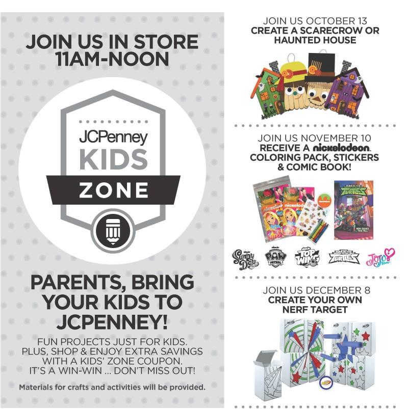 kids zone event at jcpenney alderwood