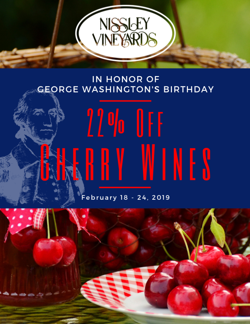 22% off Cherry Wines from Nissley Vineyards